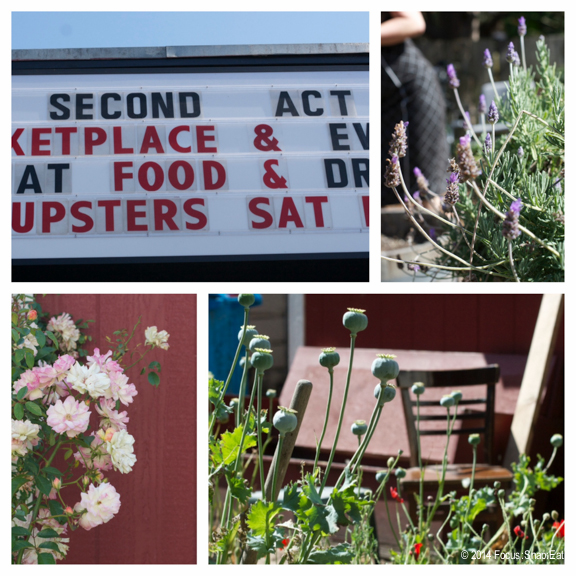 The garden behind Second Act is used by Alembic as well as other nearby tenants, growing herbs and local flowers.