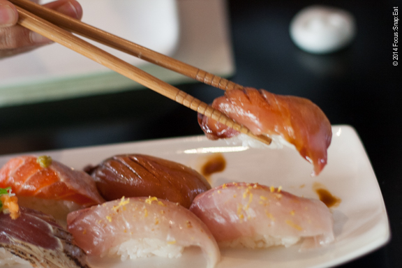 Ichi is known for its nigiri, which is served each dressed in its own sauce or preparation so no soy sauce is needed (or recommended).