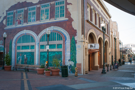 "Mural near the theaters and an alley called ""Main Street"" that feature several new restaurants and eateries."