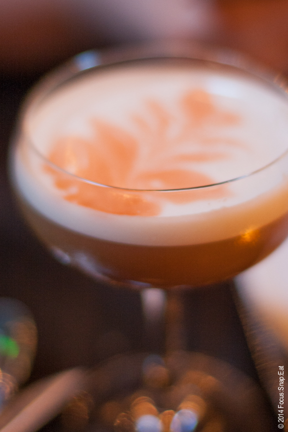 Smoke and Sand specialty cocktail ($9) made with scotch, cherry, orange bitters and egg white for that creamy texture.