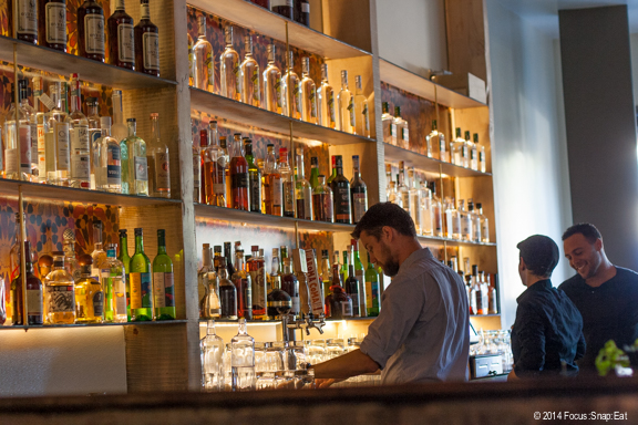 The large bar is a focal point at Shakewell.