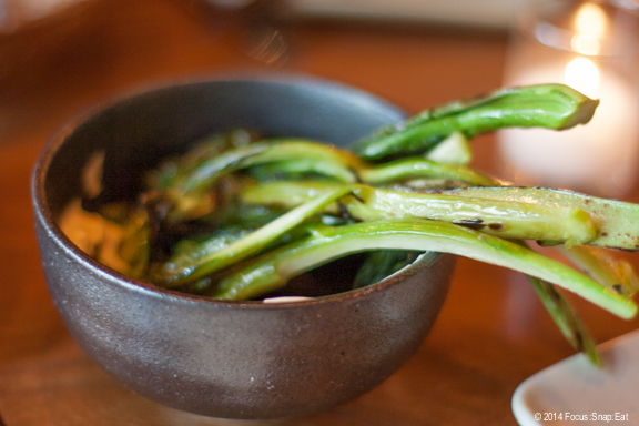Charred broccoli was a simple dish ($8) made fancy with the misonnaise (miso and mayonnaise) used as a dipping sauce.