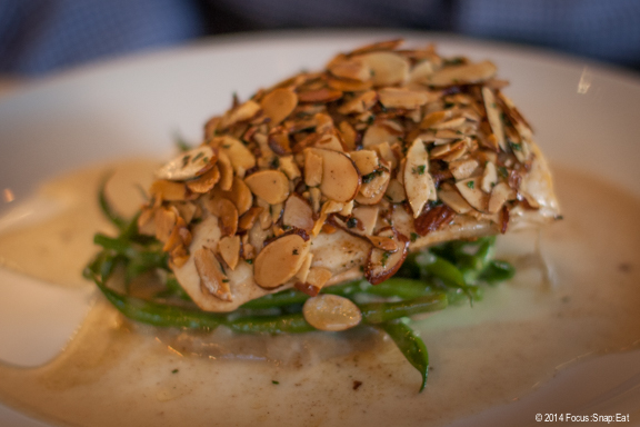 For his main, Craig ordered the Arctic Char Amandine ($28.50) with haricots verts, sunchoke and beurre noisette. The fish was perfectly cooked and was actually two filets of fish, one pink and one white.