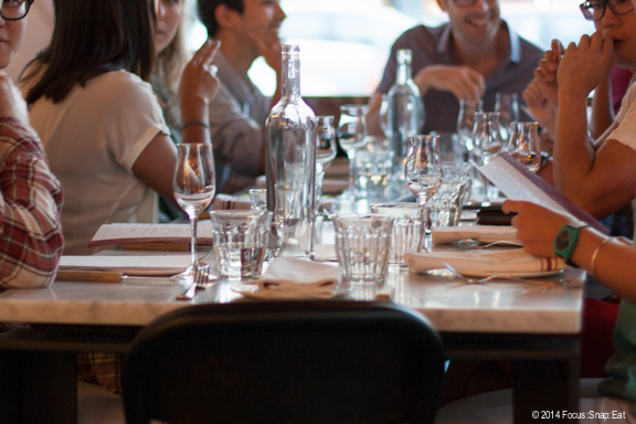 The restaurant can accommodate several large tables, making it a great place to gather with friends.