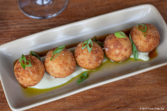Potato croquettes ($8) with serrano ham and manchego cheese.
