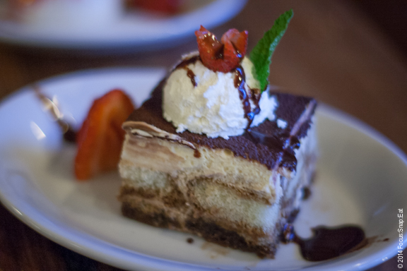 Barlago's version of the classic Italian dessert tiramisu ($7)