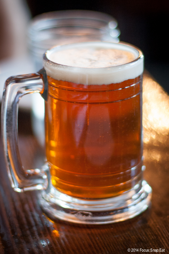 A piglet (10 oz.) glass of beer