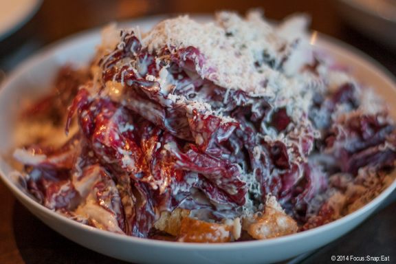 I ordered this Radicchio salad ($11) with anchovy, lemon and Parmesan similar to a Caesar salad but with the bitterness of season radicchio.