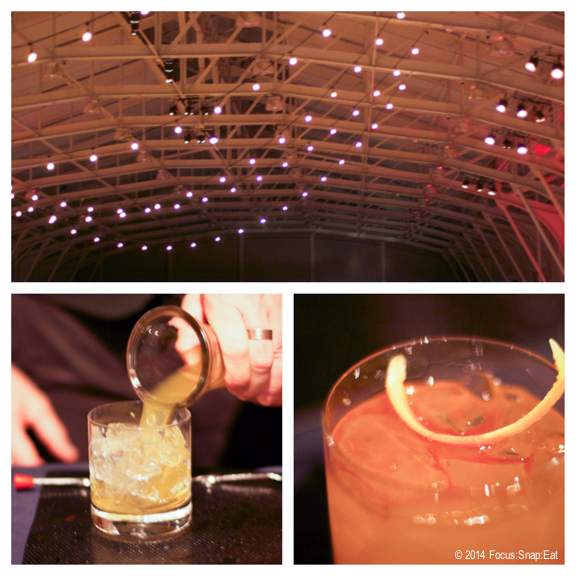 It was a festive vibe at Herbst Pavilion, and it didn't hurt that there was an open bar offering up a daiquiri and this Old Fashioned that was mixed just right.