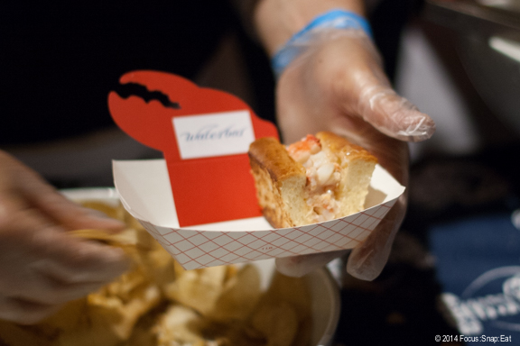 Waterbar in San Francisco provided a lobster roll with pickles and potato chips, giving the whole seafood shack experience.