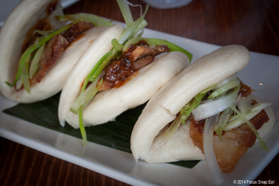 Steamed pork belly buns (3 for $7.50) were spot on with the soft buns and umami-flavored pork belly slices.