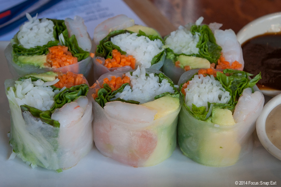 Fresh rolls ($7.25) from Vietnam gets a California twist with the addition of avocado.