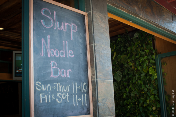 Slurp goes for a casual vibe