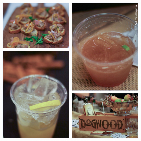 More food and drinks, including a potent Rye drink (top right ) from Dogwood Bar of Oakland.