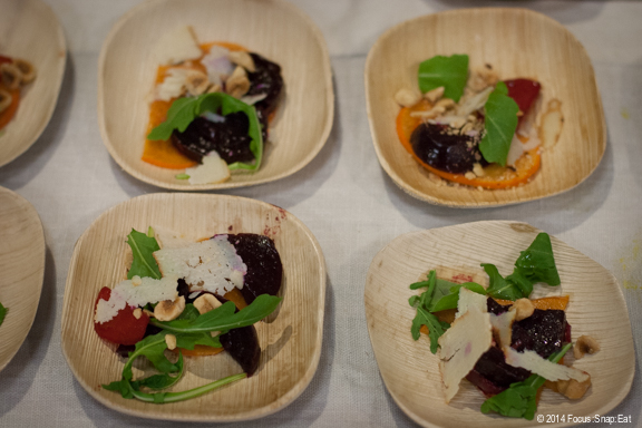 A16 in Rockridge had a seasonal beet and persimmon dish with cheese and arugula.