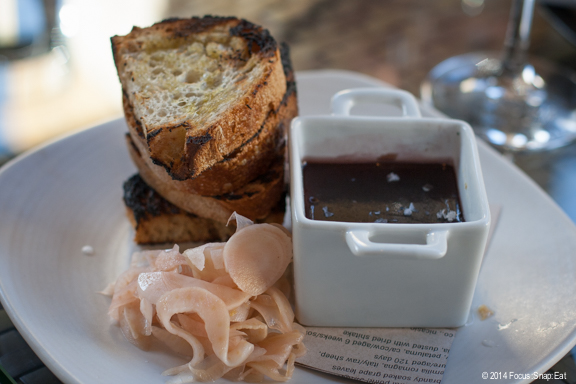Duck liver mousse ($9) had a nice top layer of port gelee and was served with pickled fennel.