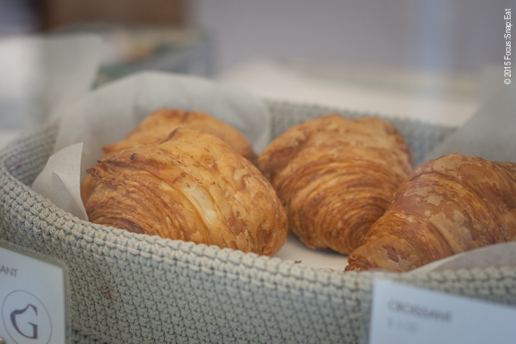 Croissants looked light and airy. Just more options in the bigger space.