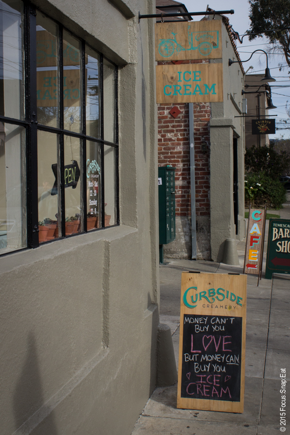 Curbside Creamery is right at the corner at the start of Temescal Alley.