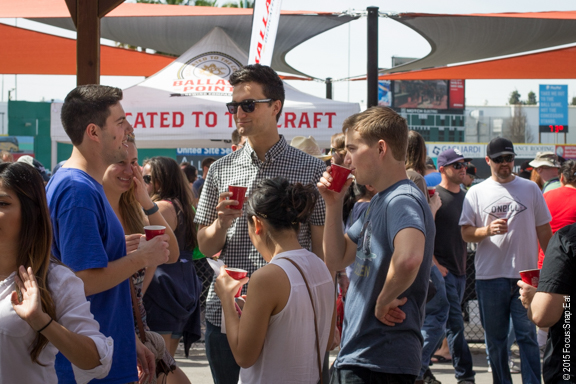 The event was crowded but it didn't feel overcrowded as groups casually enjoyed their beer tastings.