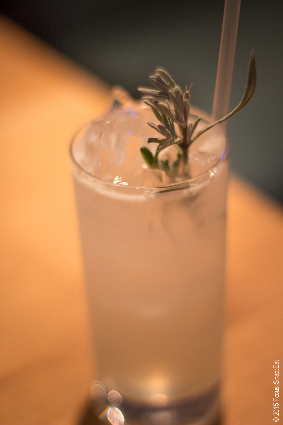 Lavender Collins ($11) was a light drink with just the slightest hint of lavender