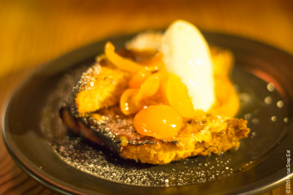 Dessert was a downer when this grilled olive cake with kumquat compote ($10) had too much char that it was more like toast and tasted dry.
