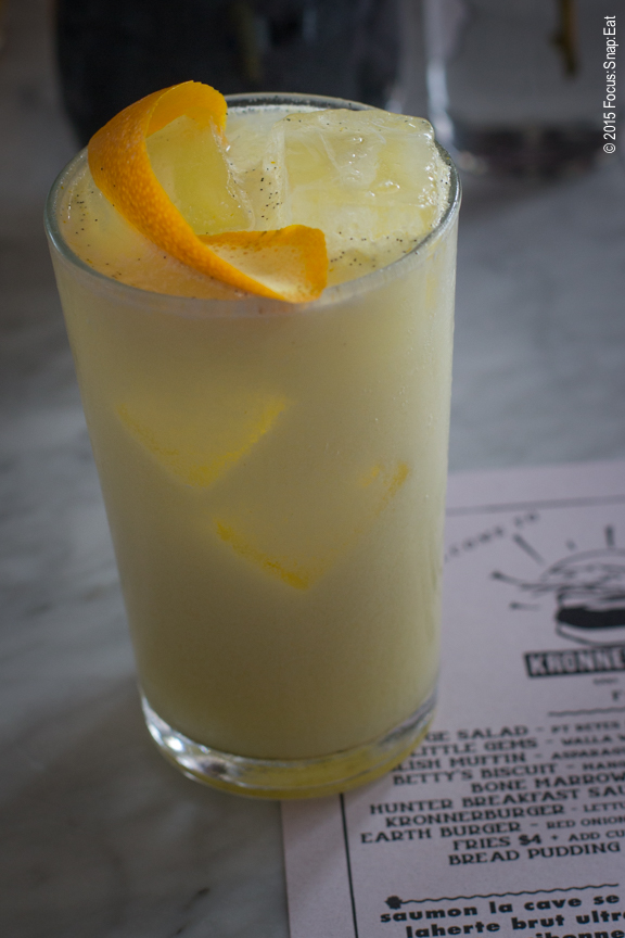 House-made orange cream soda ($4). You can see the specks of fresh vanilla.