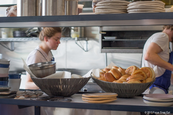 A peek into the busy kitchen on opening weekend.