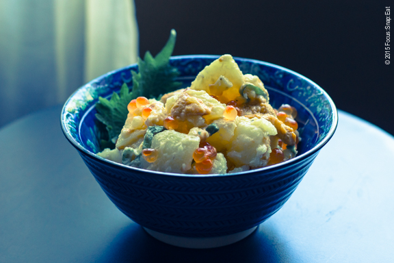 Uni potato salad. That's right, I went there.