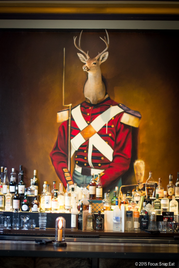 When you walk in, you see this imposing deer head portrait at the bar. Probably one of the most funky bar decor I've seen in the city.