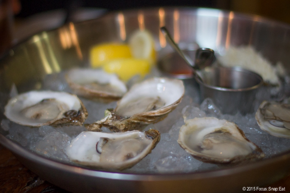 We tried a few of the special fresh oysters of the day that came with a mignonette and cocktail sauce.