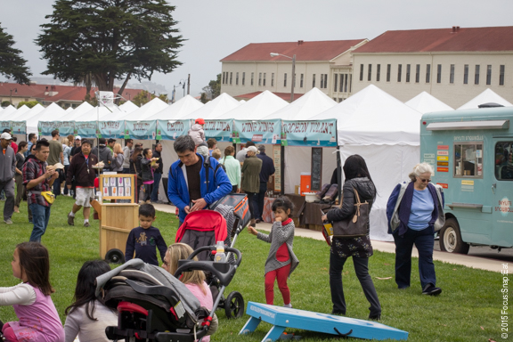 Picnic at the Presidio draws a mix of families and groups of friends.