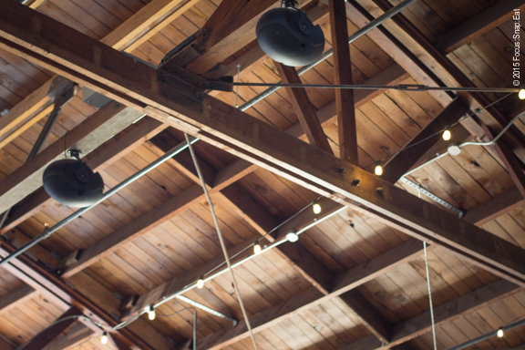 High ceilings continue the wood theme