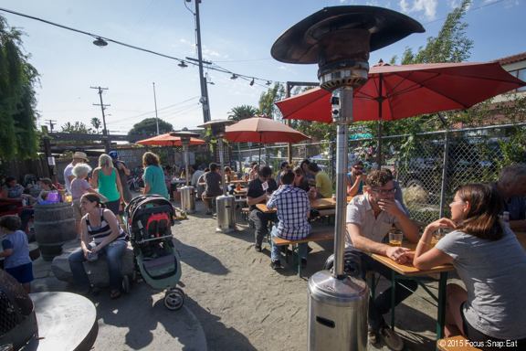 Best time to visit a beer garden when the weather is warm.