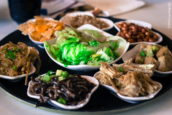 Special vegetarian dishes was an assortment of dried or pickled items ($11.99)
