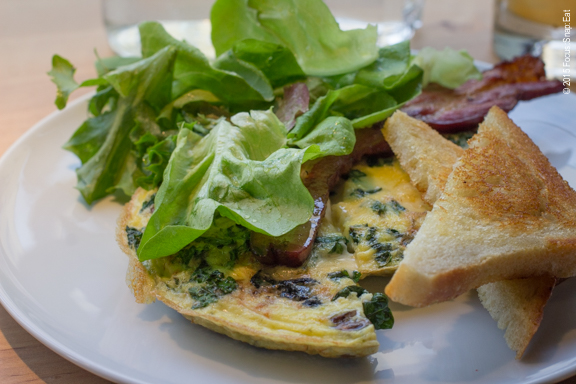 Frittata with wild mushrooms and black kale