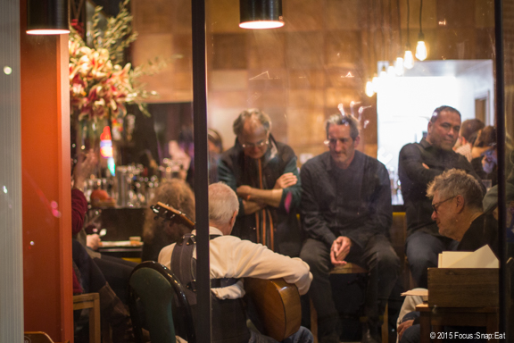 La Marcha is already trying to build a community feel to its restaurant as this group gather for flamenco music later in the evening.