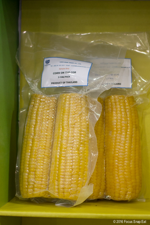 An importer from Thailand was trying to convince people to distribute their cooked corn on the cobb in vacumn packs. This was one product I really didn't understand. Is it that hard to cook fresh corn?
