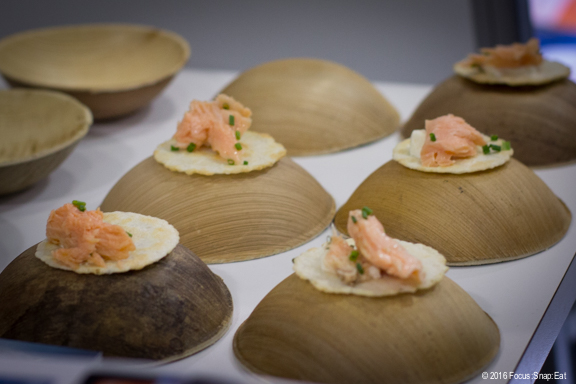 This was one of my favorite bites from Regal Salmon of New Zealand. They were testing to see if Americans would want salmon from New Zealand. After trying this, I would say YES!