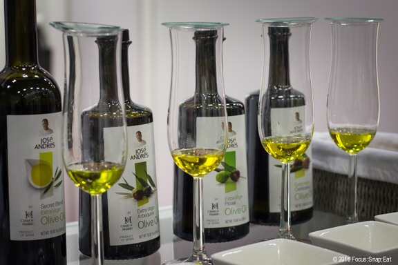 Other chefs lent their names to products such as this olive oil line from Spain that's part of Chef Jose Andres' family of products.