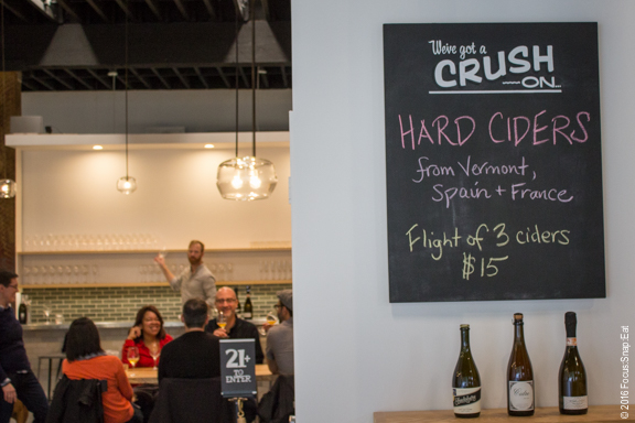 Oakland Crush offers wine tasting from small producers.