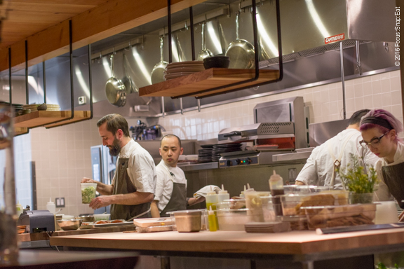 The large open kitchen at The Perennial