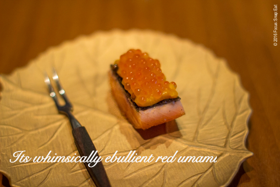Trout with salmon roe