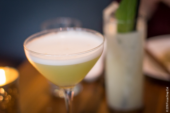 """""""Joy"""" cocktail made with Scotch, tequila and egg white"""