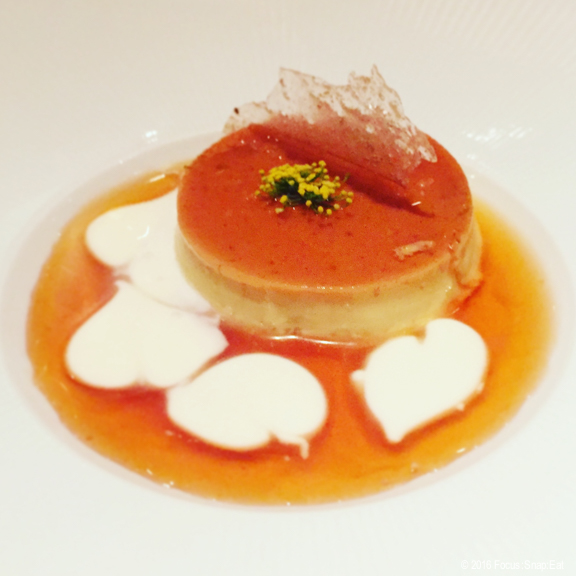 Fennel pollen flan via Focus:Snap:Eat blog