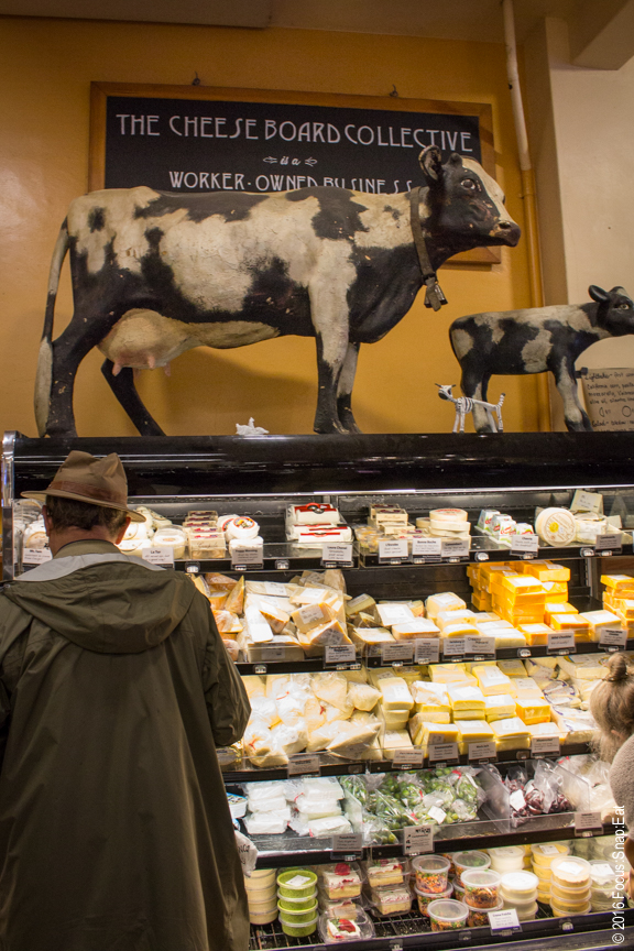 The Cheese Board Collective in Berkeley has a rotating selection of more than 300 cheese