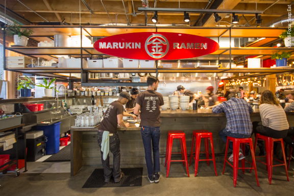 Marukin is the popular Tokyo ramen chain, which opened its first U.S. location in Portland (they now have two spots including this one inside Pine Street Market).