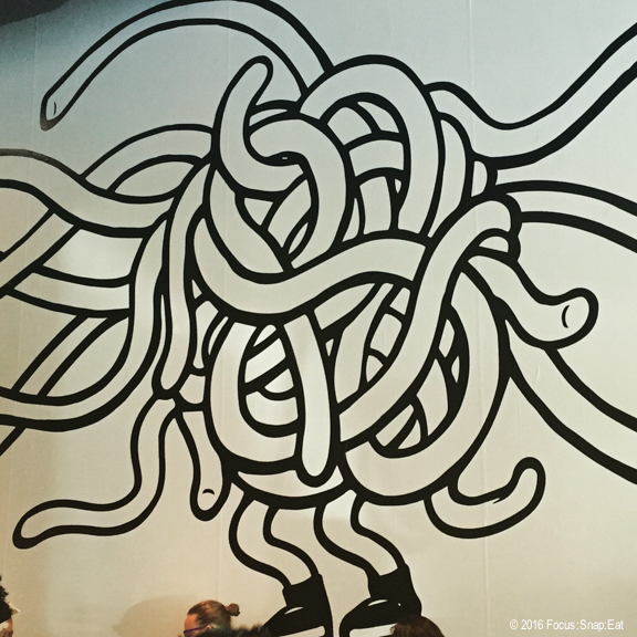 Noodle Man artwork at the new Locol Oakland