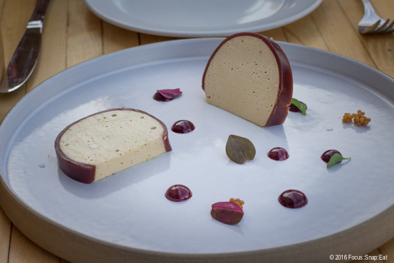 Foie gras with berry gelee
