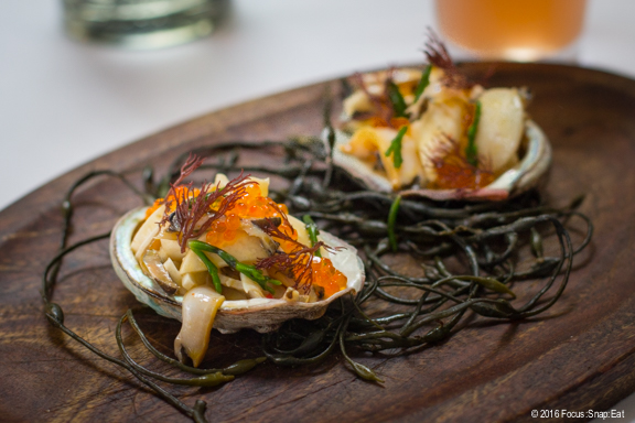 Abalone and oyster aguachile at Cala via Focus:Snap:Eat blog