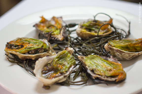 Grilled oysters at Cala via Focus:Snap:Eat blog